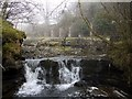 NY9039 : Waterfall, Middlehope Burn by Andrew Curtis