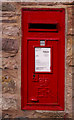NU1241 : Elizabeth II wall postbox, Holy Island, Northumberland by Christine Matthews