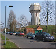 TM1645 : Water tower, Elsmere Road by Andrew Hill
