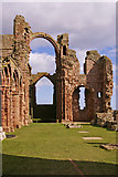 NU1241 : The Old Priory, Holy Island, Northumberland by Christine Matthews