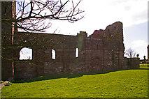 NU1241 : Lindisfarne Priory, Holy Island by Christine Matthews