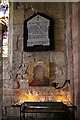 NU1241 : Memorial Tablet, St Mary the Virgin, Holy Island by Christine Matthews