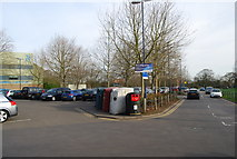 TQ7668 : Recycling Point, Black Lion Leisure Centre by N Chadwick