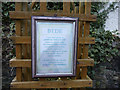 NU1241 : Plaque about Rev Bede, Gospel Gardens, Holy Island by Christine Matthews