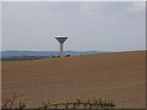 T0211 : Mayglass water tower across ploughed field by David Hawgood