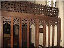 SU6462 : Chancel screen - St Mary's by Given Up