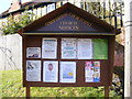 TM1244 : Sproughton Church Hall Notice Board by Adrian Cable