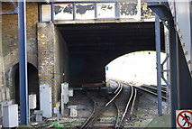 TQ7768 : Looking down the line towards London, Gillingham Station by N Chadwick
