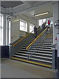 NT9953 : Stairs to Platform, Berwick-upon-Tweed Station by Christine Matthews
