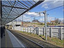 NT9953 : Southbound Platform, Berwick-upon-Tweed Station by Christine Matthews