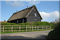 TQ4743 : Thatched Barn at Wilderness Farm by Oast House Archive