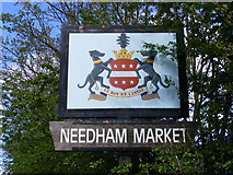TM0954 : Needham Market Town Sign by Adrian Cable