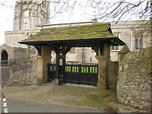 SD4983 : St Peter's Church, Heversham, Lych gate by Alexander P Kapp