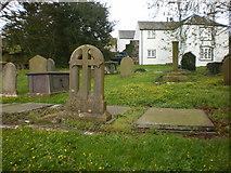 SD4983 : St Peter's Church, Heversham, Graveyard by Alexander P Kapp