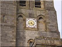 SD4983 : St Peter's Church, Heversham, Clock by Alexander P Kapp