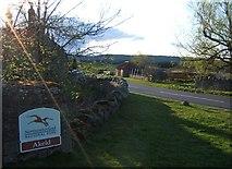 NT9529 : National Park Sign, Akeld by Barbara Carr