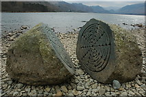 NY2621 : The 'Hundred Year Stone', Derwent Water by Philip Halling
