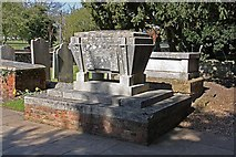 TL3706 : Tombstones in churchyard by John Salmon