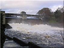 NN9357 : Loch Faskally Dam by Russel Wills
