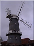 TF7632 : Great Bircham Tower Windmill on a Grey April Day by Mark Hobbs