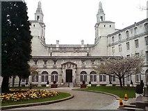 SE2934 : Leeds Civic Hall, rear entrance by Rich Tea