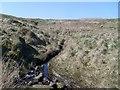NS4876 : Tributary stream of Cochno Loch by Stephen Sweeney