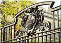 J3374 : Gate detail, Belfast City Hall by Albert Bridge