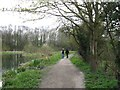 """SP8609 : Wendover Arm: The Towpath runs past """"The Wides"""" by Chris Reynolds"""