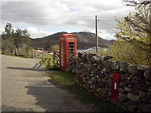 NB9812 : Telephone box in Altandhu by Colin Kinnear