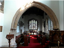 SP6989 : St. Andrew's church, Foxton - interior by Jonathan Billinger