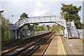 TQ6850 : Footbridge across the line at Yalding Station by N Chadwick