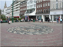 SZ0891 : Bournemouth, pebble mosaic by Mike Faherty