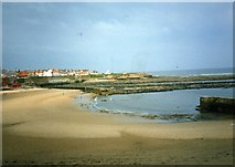 NZ3671 : A peaceful beach at Whitley Bay by James Denham