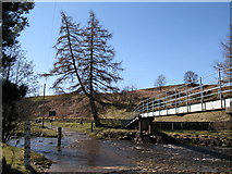 NY8450 : Ford and footbridge on the River East Allen (2) by Mike Quinn
