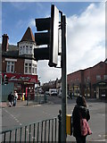 SZ0893 : Bournemouth : Pedestrian Crossing on Wimborne Road by Lewis Clarke