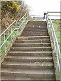 T0318 : Road  replaced by steps, near Moorfields by David Hawgood