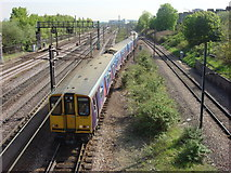 TQ3187 : East Coast Main Line looking towards Finsbury Park station by Oxyman