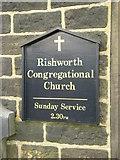 SE0118 : Rishworth Congregational Church, Sign by Alexander P Kapp