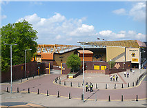 SO9199 : The sun shines anew on the Molineux Stadium, Wolverhampton by Roger  Kidd