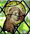 TG3103 : St Mary's church - stained glass detail by Evelyn Simak