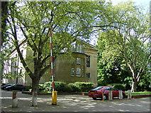 TQ3377 : Car park and rear of St George's Church by PAUL FARMER