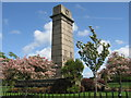 NY4056 : Cenotaph in Rickerby Park by David Liddle