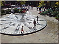 SU8769 : Clock Fountain, Charles Square, Bracknell by Peter Taylor