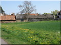 TL1252 : Farm buildings on the edge of Great Barford by Michael Trolove
