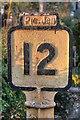 NZ5807 : Old North Yorkshire & Cleveland Railway Company Milepost by Mick Garratt