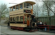 SK3455 : Sheffield tram No. 74 at Crich Tramway Village by P L Chadwick