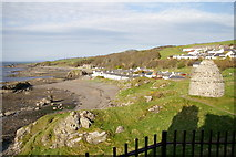 NS2515 : Dunure village and dovecote by Iain Marshall