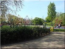 TQ3187 : Play area, Finsbury Park by Oxyman