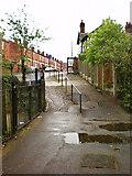 SJ8889 : Footpath on to Reservoir Road by Alexander P Kapp