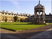 TL4458 : The Great Court at Trinity College by Kenneth Yarham